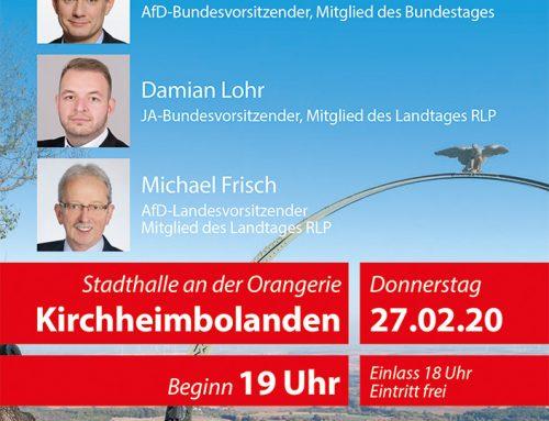 AfD Infoveranstaltung und Bürgerdialog